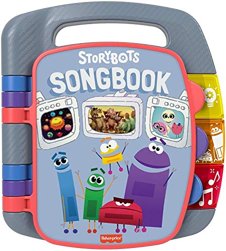 Fisher-Price StoryBots Songbook, musical book with facts about space, dinosaurs and the human body for preschool kids ages 3 years and up