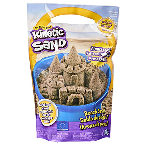 Kinetic Sand, The Original Moldable Play Sand, 3.25lbs Beach Sand, Sensory Toys for Kids Ages 3 and up