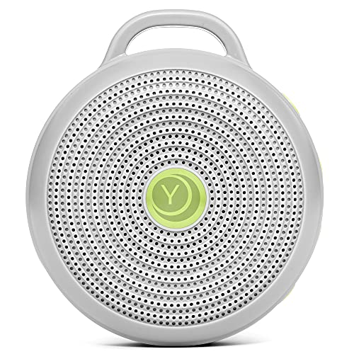 Yogasleep Hushh Portable White Noise Machine for Baby   3 Soothing, Natural Sounds with Volume Control   Compact for On-the-Go Use & Travel   USB Rechargeable   Baby-Safe Clip & Child Lock
