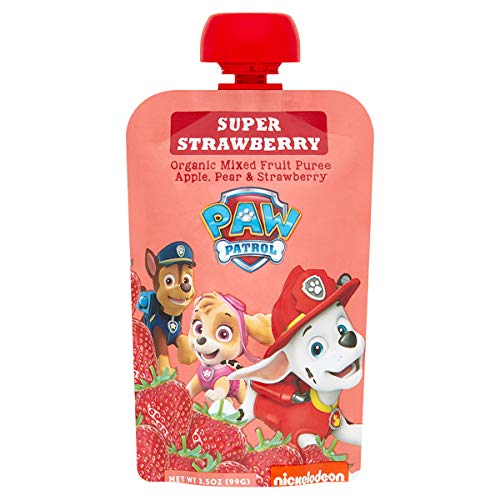 Paw Patrol Super Strawberry Organic Mixed Fruit Squeeze Pouch, 3.5 oz. (Pack of 10)