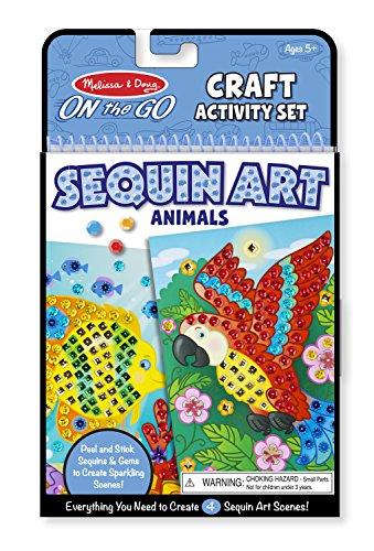 Melissa & Doug On-the-Go Crafts - Sequin Art - Animals