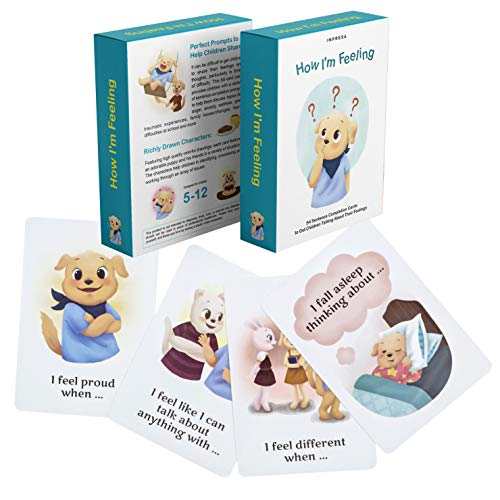 How I'm Feeling - 54 Sentence Completion Cards to Get Children Talking About Their Feelings - Ideal for Parents, Teachers, Therapists and More - by Impresa