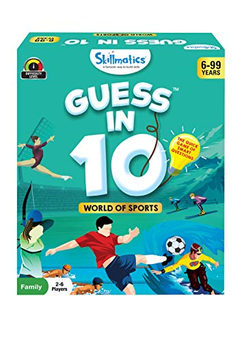 Skillmatics Card Game : Guess in 10 World of Sports | Gifts for Ages 6 and Up | Super Fun for Travel & Family Game Night