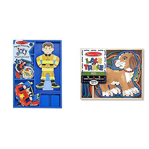 Melissa & Doug Joey Magnetic Pretend Play & Lace Activity Set