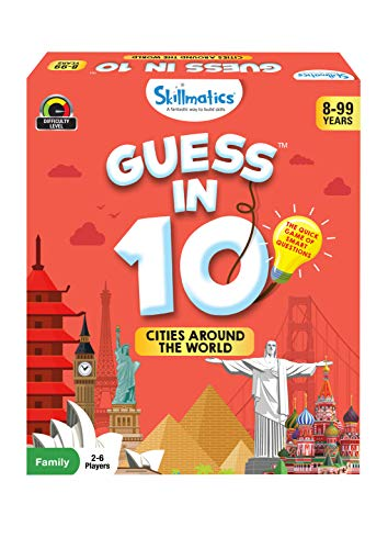 Skillmatics Card Game : Guess in 10 Cities Around The World | Gifts for Ages 8 and Up | Super Fun for Travel & Family Game Night