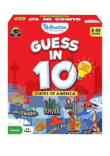 Skillmatics Card Game : Guess in 10 States of America | Gifts for Ages 8 and Up | Super Fun for Travel & Family Game Night