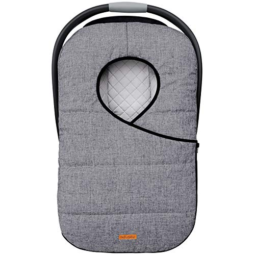liuliuby Winter Car Seat Cover - Cold Weather Bunting Bag & Blanket for Infant Car Seat - Keeps Baby Warm and Cozy (Heather Gray)