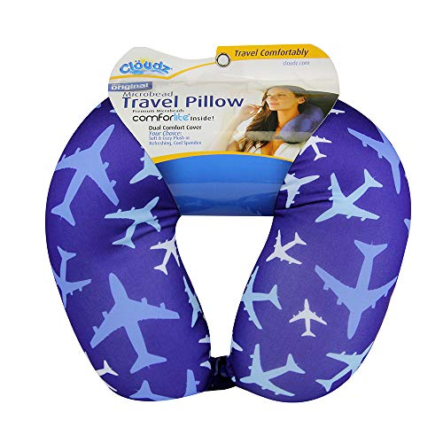 Cloudz Patterned Microbead Travel Neck Pillow - Airplanes