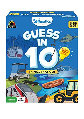 Skillmatics Card Game : Guess in 10 Things That Go! | Gifts for Ages 6 and Up | Super Fun for Travel & Family Game Night