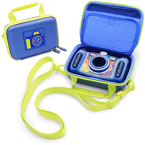 CASEMATIX Camera Case Compatible with VTech Kidizoom Camera and Vtech Camera Accessories , ONLY Includes Blue Camera Bag with Strap