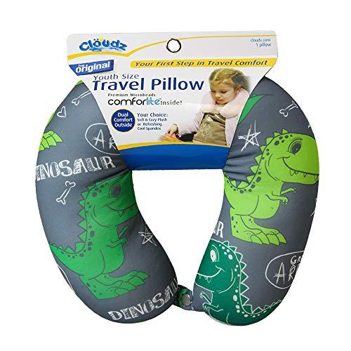 Cloudz Kids Microbead Travel Neck Pillow - Dinosaur