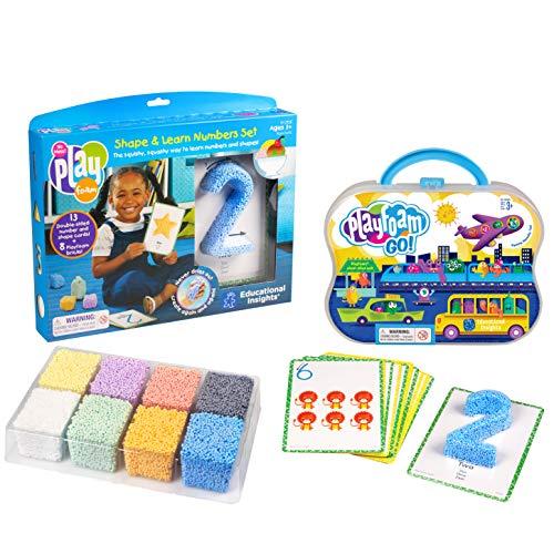 Educational Insights Playfoam Shape & Learn Numbers & Go Set