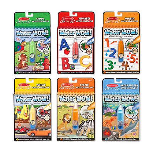 Melissa & Doug Water Wow! - Water Reveal Pad Bundle - Animals, Alphabet, Numbers and More