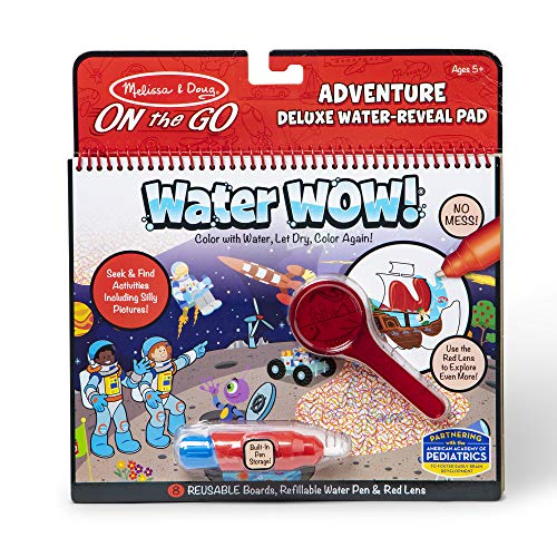 Melissa & Doug On The Go Water Wow! Reusable Water-Reveal Deluxe Activity Pad – Adventure