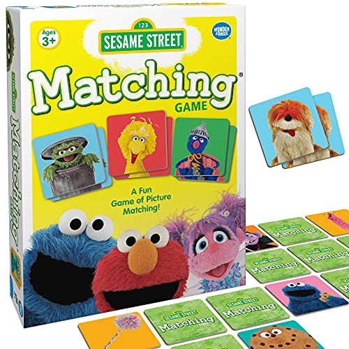 Wonder Forge Sesame Street Matching Game for Boys & Girls Age 3 and Up - A Fun & Fast Memory Game You Can Play Over & Over
