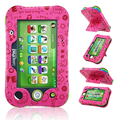 ACdream LeapPad Ultimate Case, Leather Tablet Case for LeapPad Kids Learning Tablet(2017 Release), (Pink Pattern)