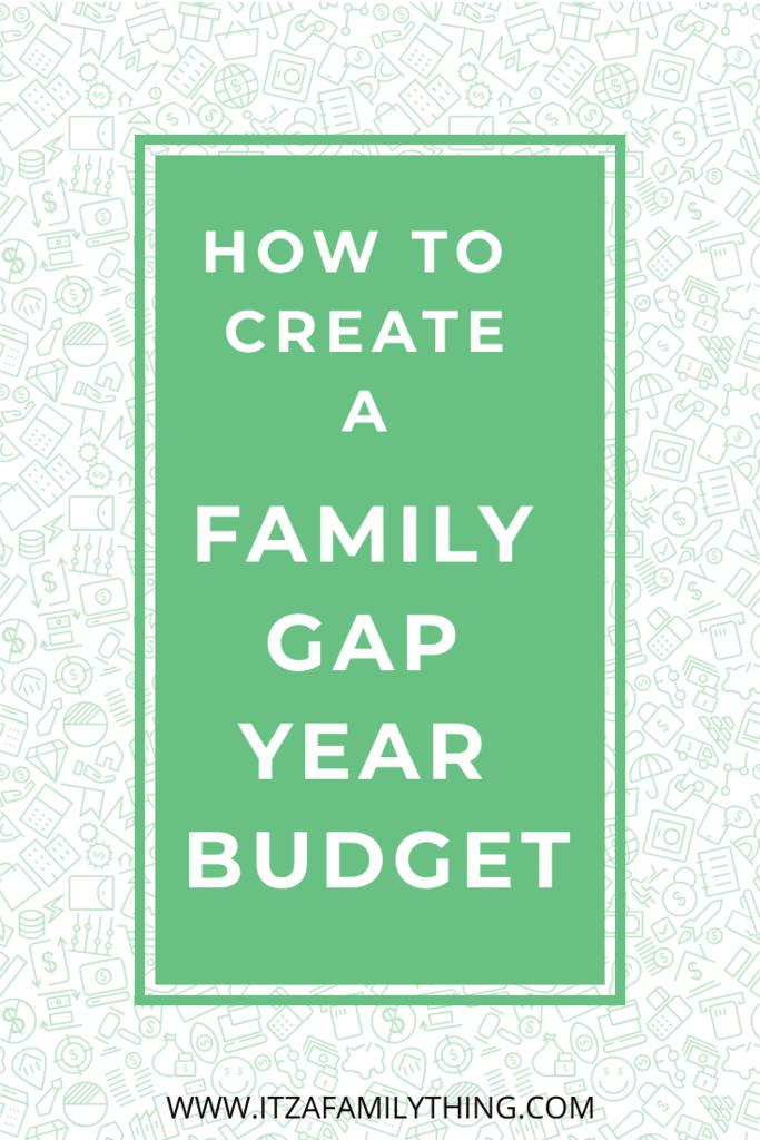 Pinterest Family Gap Year Budget