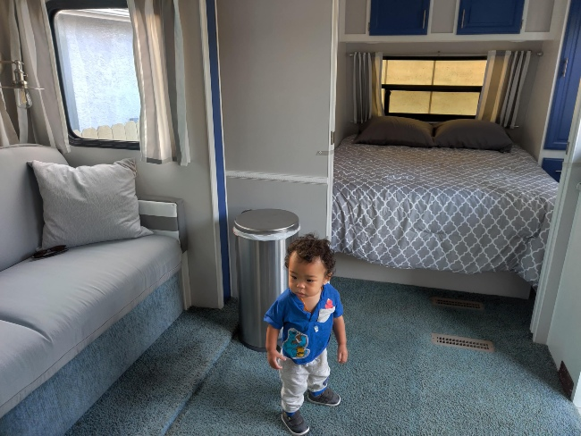 Airbnb with toddler on road trip