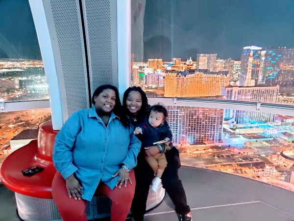 Linq Highrolller Las Vegas with Toddler