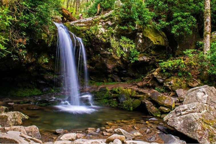 Smoky Mountains with kids Grotto Falls