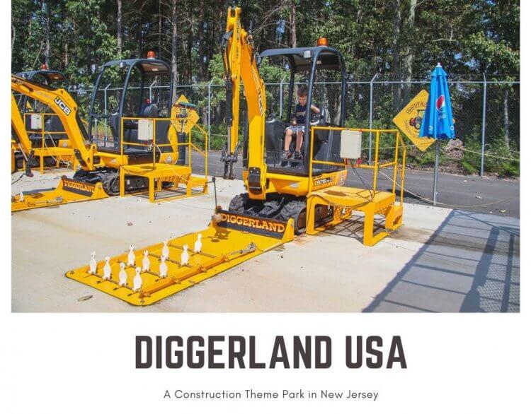 Diggerland USA with toddler