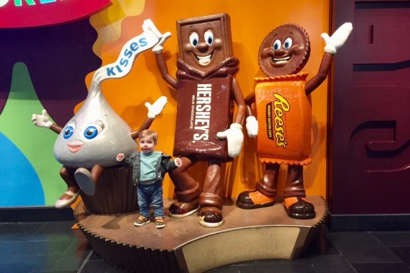 Hershey park with a toddler
