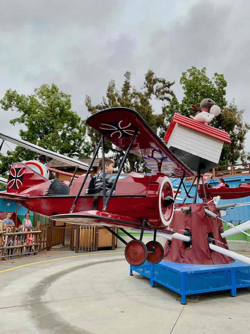 Knott's Berry Farm ride with a toddler