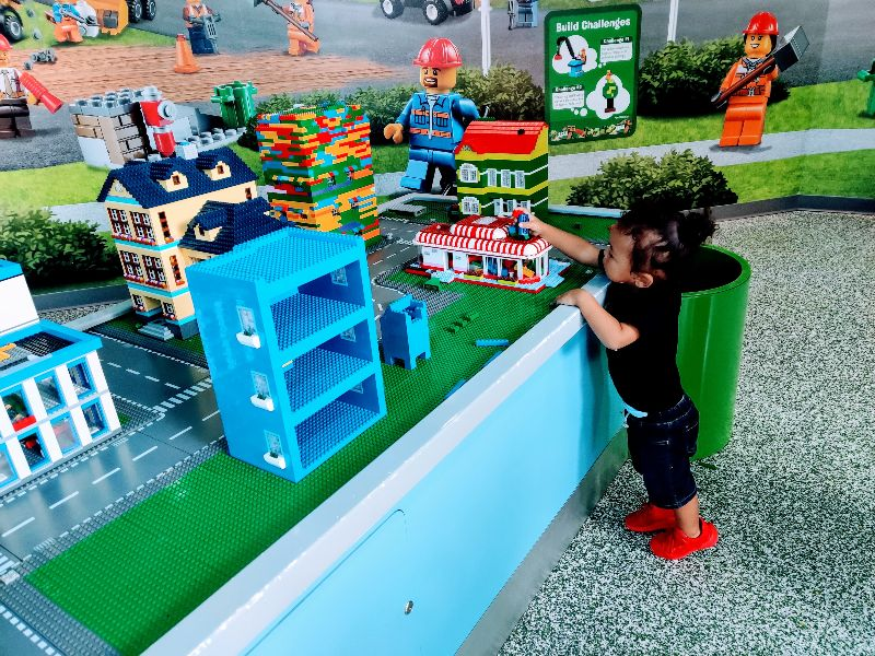LEGO Imagination Zone with a toddler