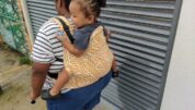 Toddler in Baby Tula carrier