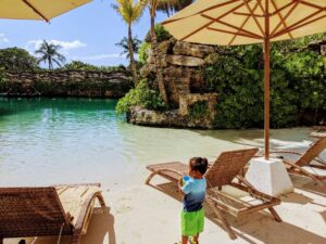 Toddler at Hotel Xcaret Beach
