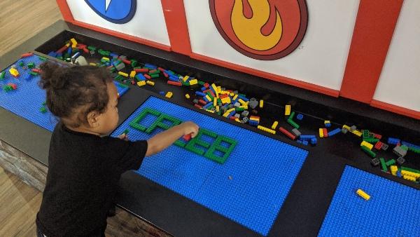 Toddler playing at Imagination Zone