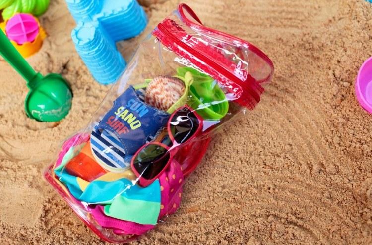 toddler beach gear sunglasses water shoes beach bucket
